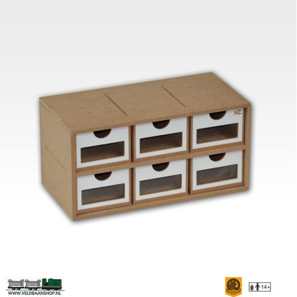 Hobbyzone OM01a Drawers Lades Module x6 bouwpakket