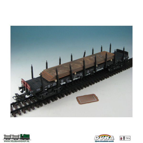 DUHA 11532 Metallplatten gestapelt 148 x 32 mm H0