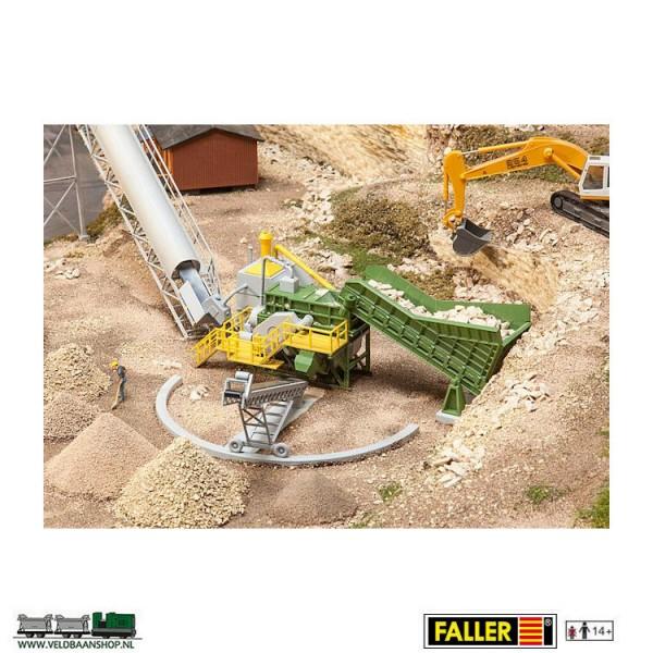 Faller 130173 stenenbreker met lopende band Veldbaanshop.nl