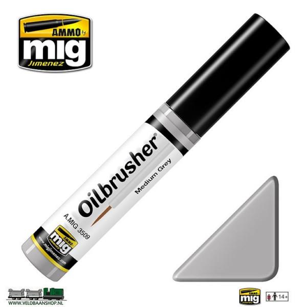 MIG 3509 Ammo MIG Jimenez Oilbrusher Medium Grey Veldbaanshop.nl