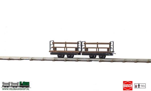 Busch 12202 veldspoor Manschappen wagens 2 stuks H0f