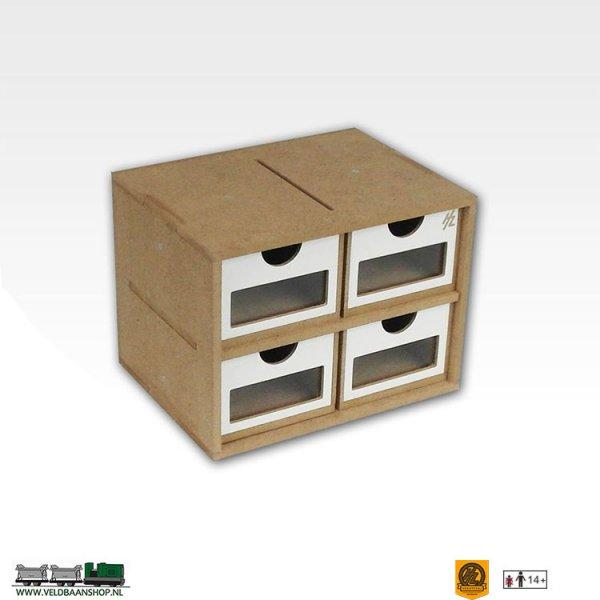 Hobbyzone OMs01a  Drawers Lades Module x4 bouwpakket