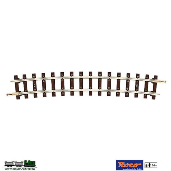 Roco 32205 gebogen smalspoor veldbaanrails H0e