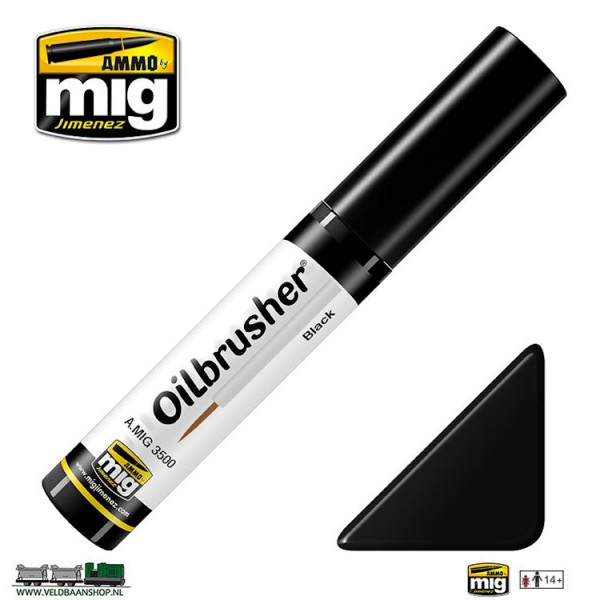 MIG 3500 Ammo MIG Jimenez Oilbrusher Black