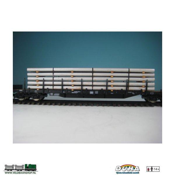 DUHA 11545 4 Rohre silber 160x32x28 H0
