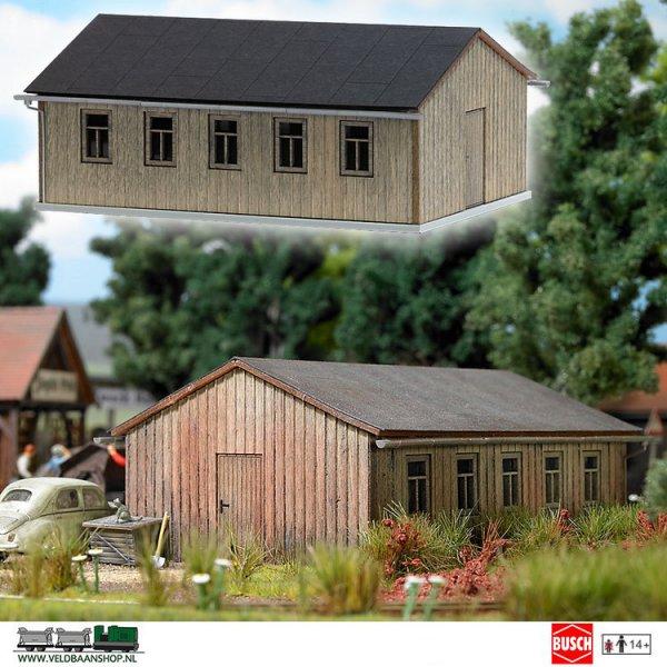 Busch 1544 bouwdoos barak HO