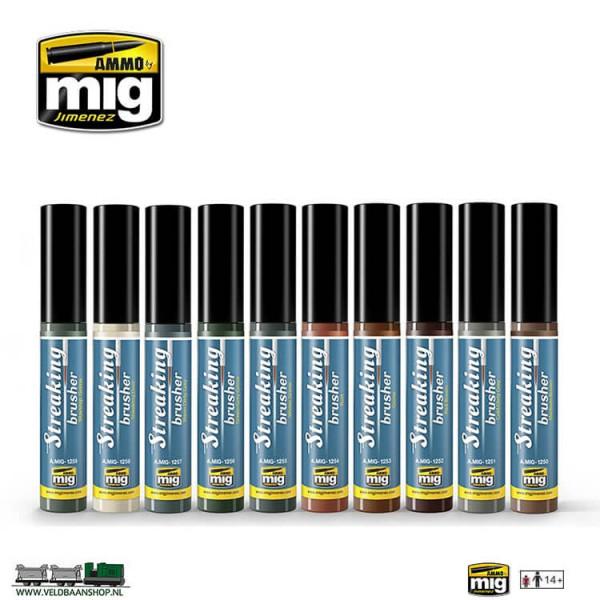 MIG Streaking Brushers set of 10