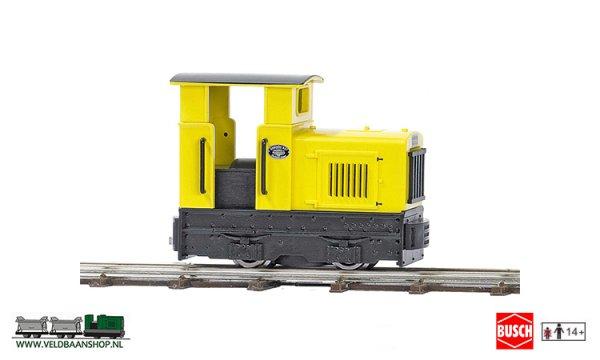 Busch 12110 veldspoor Dieselloc. Gmeinder geel H0f Veldbaanshop.nl