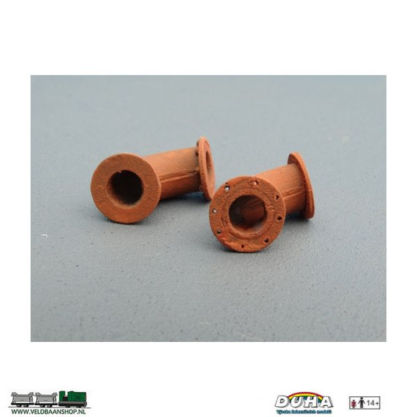 DUHA 11401 B Rohre Kniestuck Flansch mit Schraube 0 8 mm H0