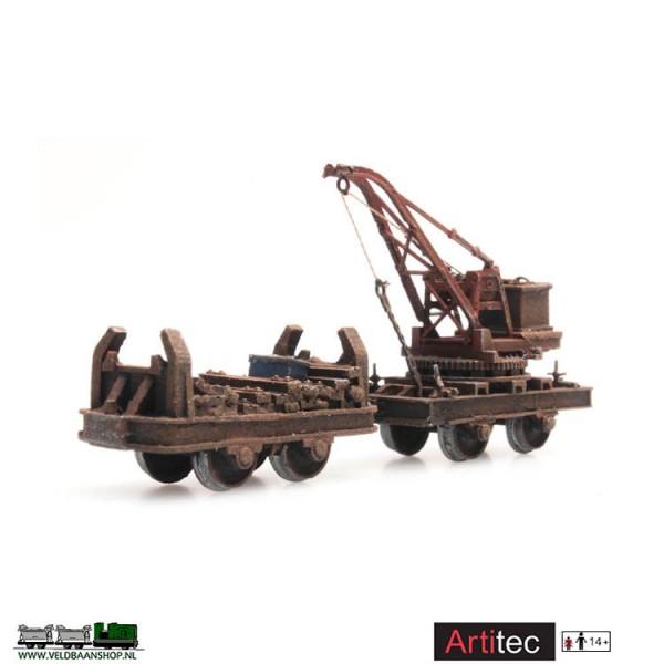 Artitec 387.393 Lorrie met kraan dummy gereed model