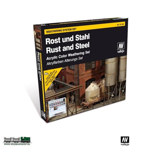 Vallejo 70150 Rust and Steel Weathering Set