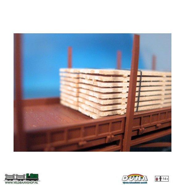 DUHA 11271 Bretter-Stapel, 80x30x16 mm H0