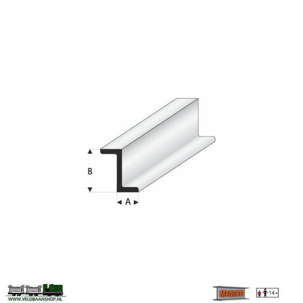 MAQUETT 418-52/3 profiel : Z-profiel styreen massief