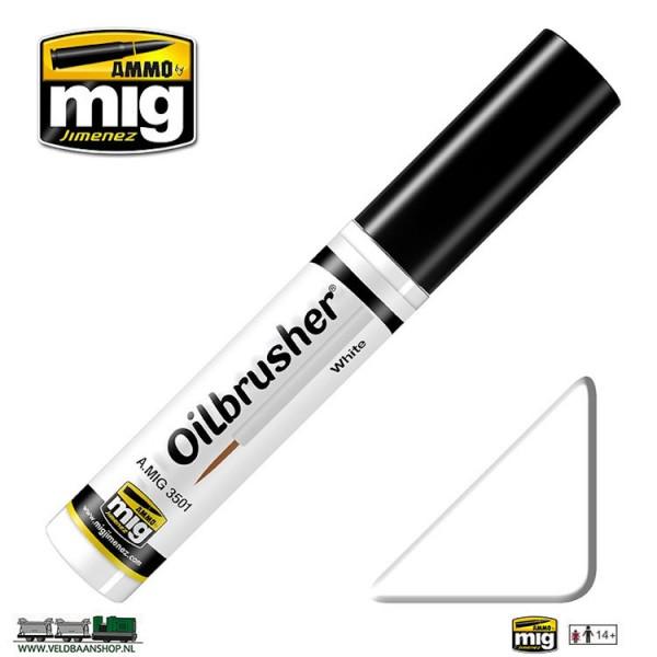 MIG 3501 Ammo MIG Jimenez Oilbrusher White