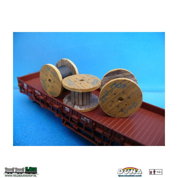 """DUHA 11256 Kabeltrommel """"Mtr"""", 3 Stk. D 30mm H0"""