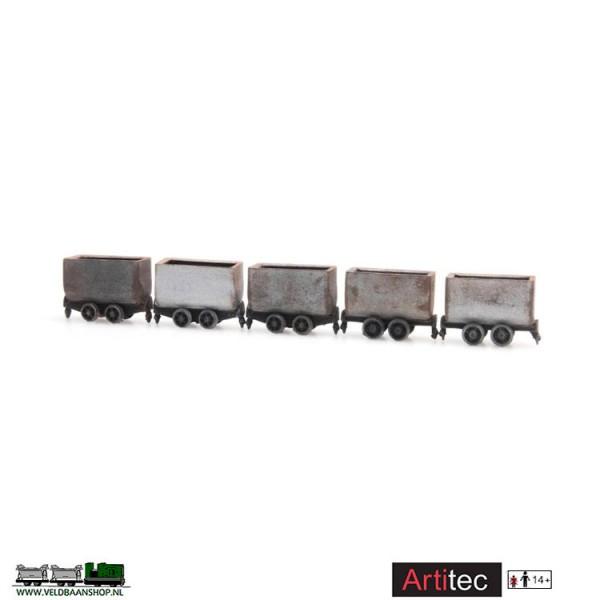 Artitec 387.395 - 5 mijnkarren dummy gereed model