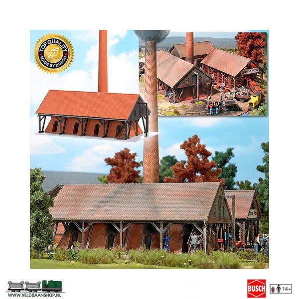 Busch 1550 bouwdoos steenfabriek ringoven voor bakstenen H0