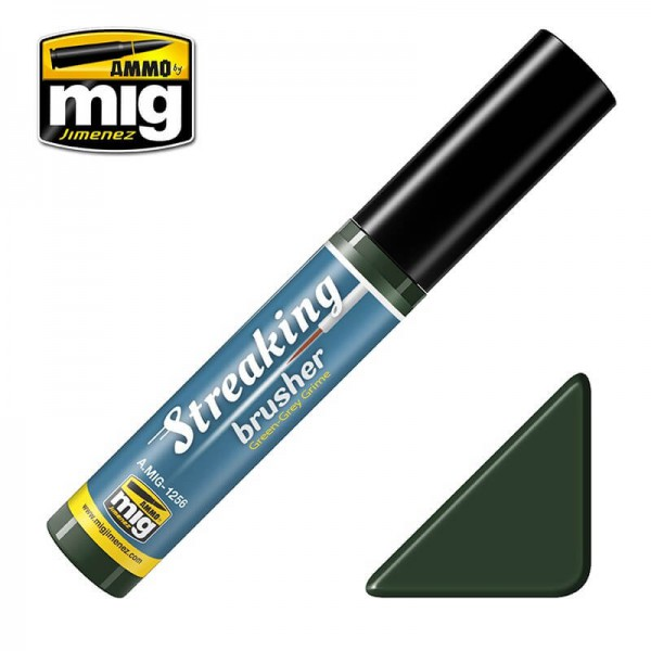MIG 1256 Streaking Brusher Green Grey Grime