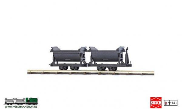 Busch 12216 veldspoor Kipper wagens 2 stuks H0f