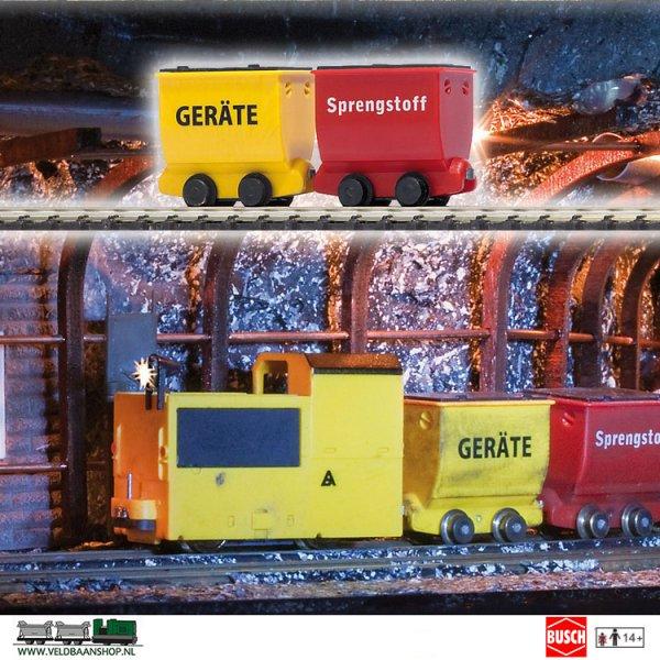 Busch 5022 Mijnbouw Lorries Springstof 2 Stuks H0f