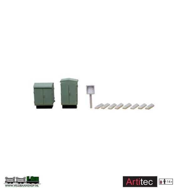 Artitec 10249 Fabrieksschoorsteen met ringen resin H0 1:87 Veldbaanshop.nl