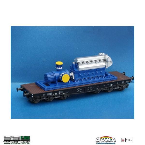 DUHA 11555 Schraubenpumpe mit Motor und Rahmen H0 Veldbaanshop.nl