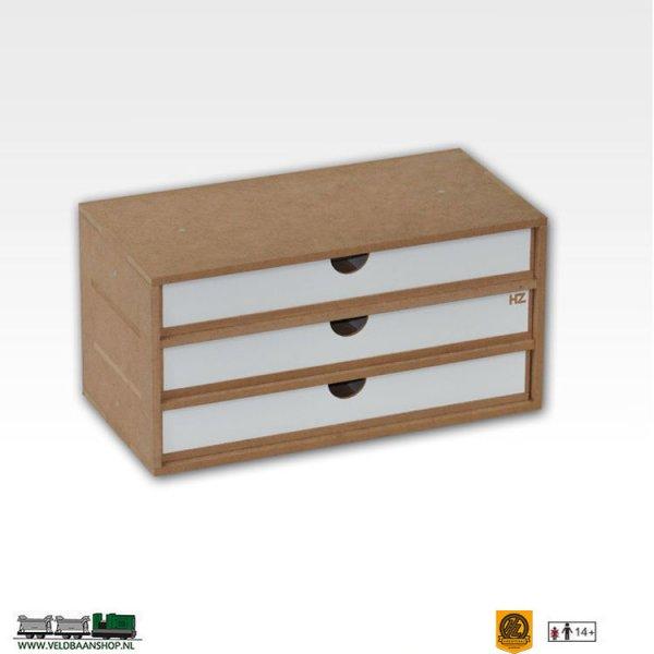 Hobbyzone OM02a Drawers Lades Module x3 bouwpakket