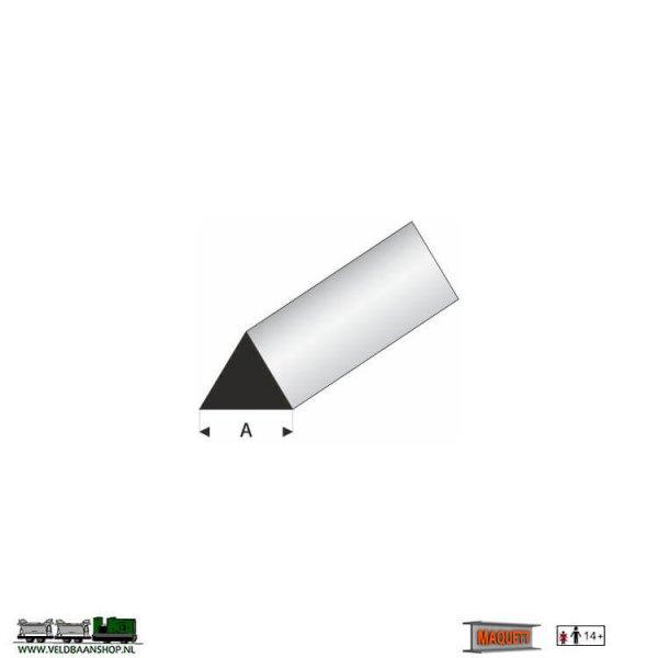 MAQUETT 404-55/3 profiel wit styreen : driehoek 60 grd. massief