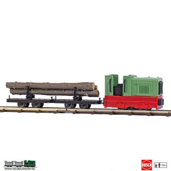Busch 12012 veldspoor startset houttransport H0f