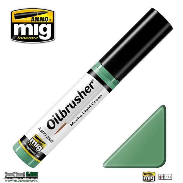 MIG 3529 MIG Jimenez Oilbrusher Mecha Light Green