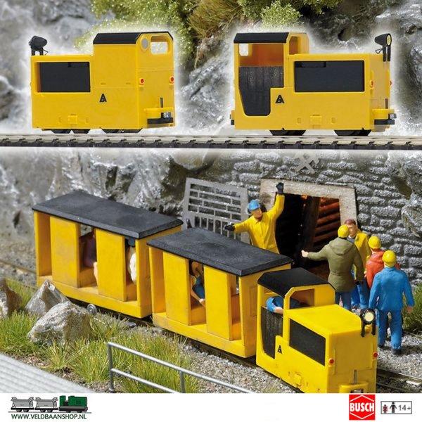 Busch 5010 Mijnbouw Locomotief B360 Geel
