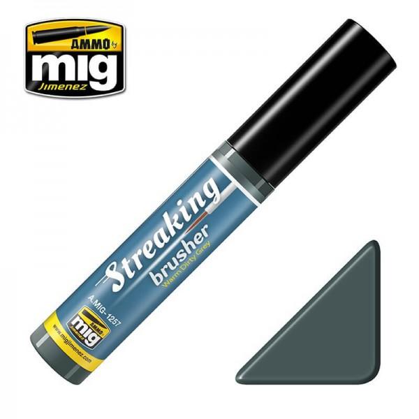 MIG 1257 Streaking Brusher Warm Dirty Grey