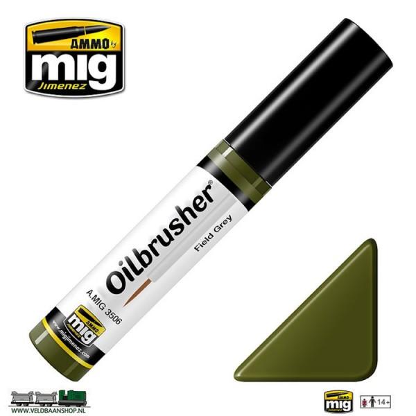 MIG 3506 Ammo MIG Jimenez Oilbrusher Field Green Veldbaanshop.nl