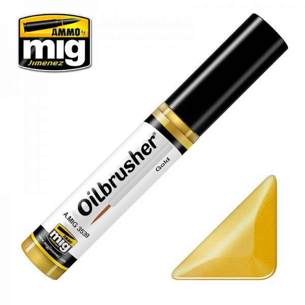 MIG 3539 Ammo MIG Jimenez Oilbrusher Gold