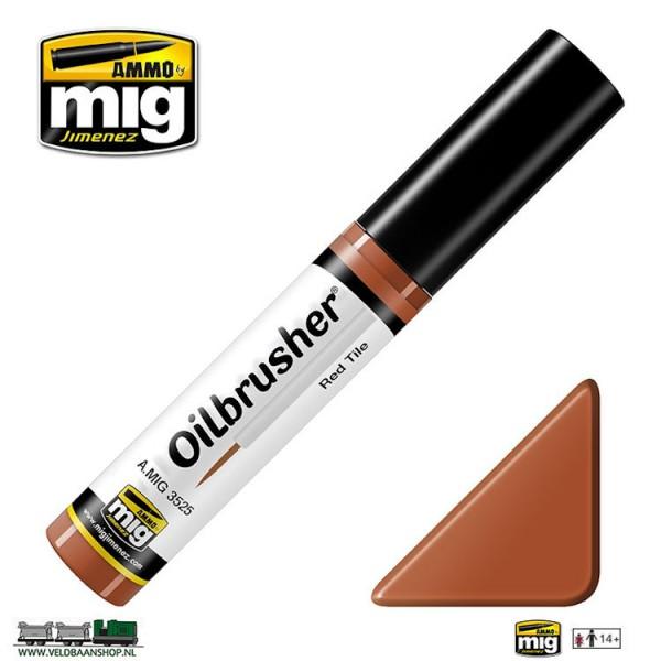 MIG 3525 MIG Jimenez Oilbrusher Red Tile