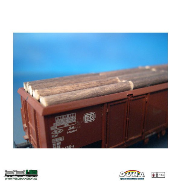 DUHA 11100 Altes Holz, liegend, 164x29x28 mm H0