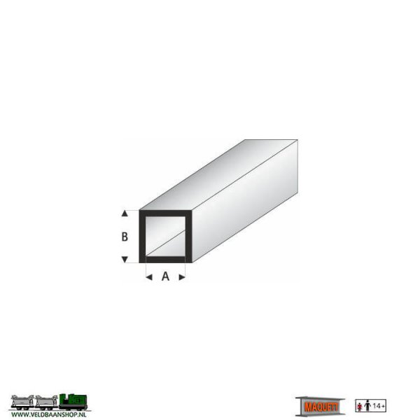 MAQUETT 420-51/3 profiel: Vierkant-profiel styreen open