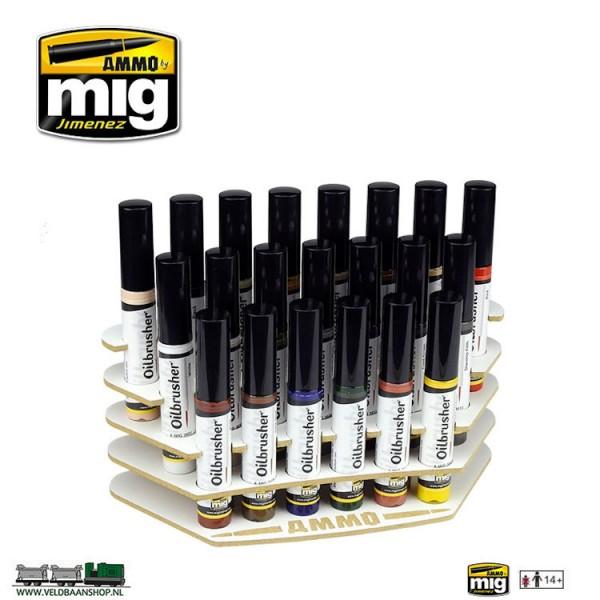 MIG 8020 oilbrushers organizer voor 21 oilbrushers Veldbaanshop