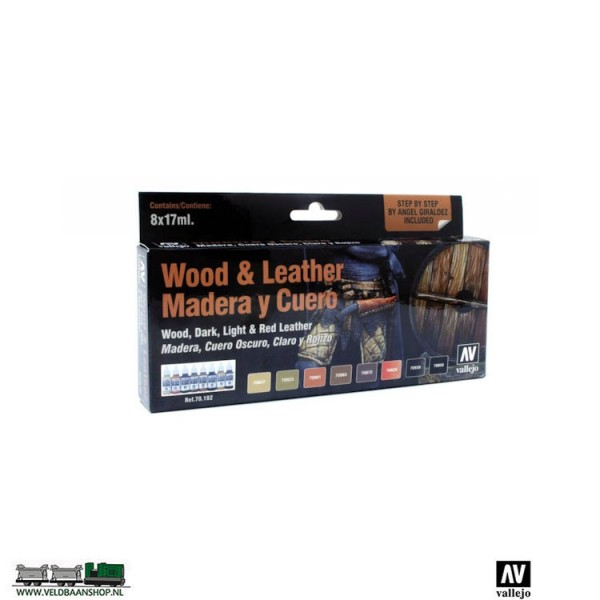 Vallejo 70182 Model Color Wood and Leather