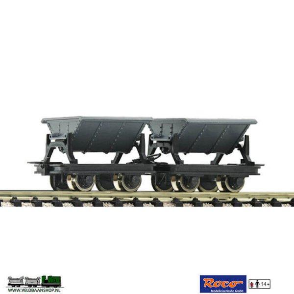 Roco 34600 Kipploren H0e De wagons worden uitgeleverd per 2 stuks. Aanbeveling om de modellen te weatheren voor een authentieke uitstraling. Wij verkopen in onze shop diverse artiekelen om uw model professioneel te watheren