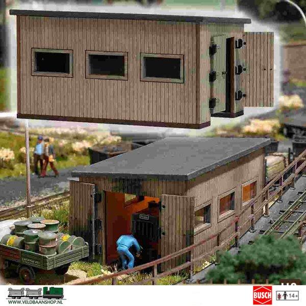 Busch 12380 bouwdoos Locomotiefloods H0