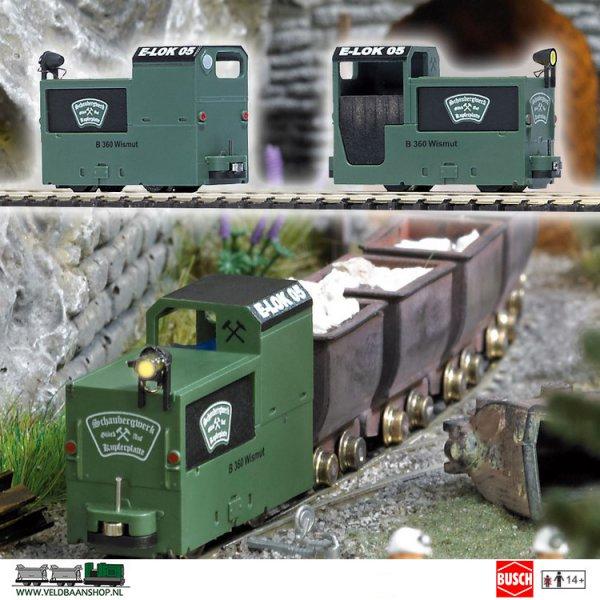 Busch 5011 Mijnbouw Locomotief B360 Groen