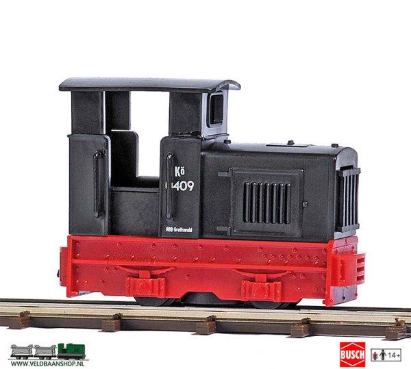 Busch 12114 veldspoor Diesellocomotief Gmeinder zwart H0