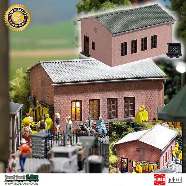 Busch 1477 bouwdoos lampenhuis mijnbouw H0