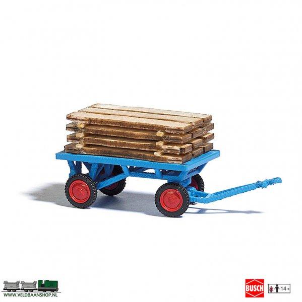 Busch 1633 handwagen met houten planken