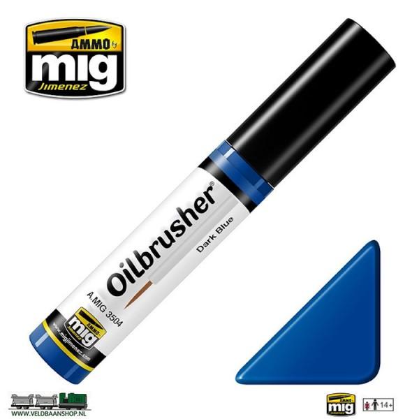 MIG 3504 Ammo MIG Jimenez Oilbrusher Dark Blue Veldbaanshop.nl