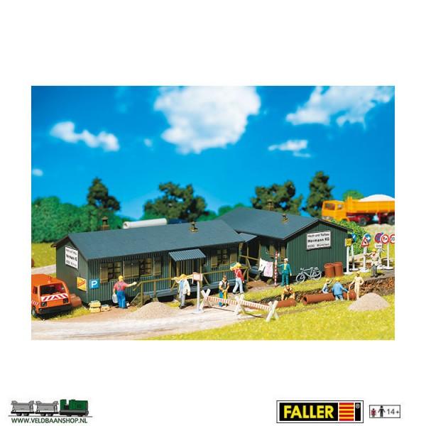 Faller 130947 barak voor industrie of bouwplaats H0