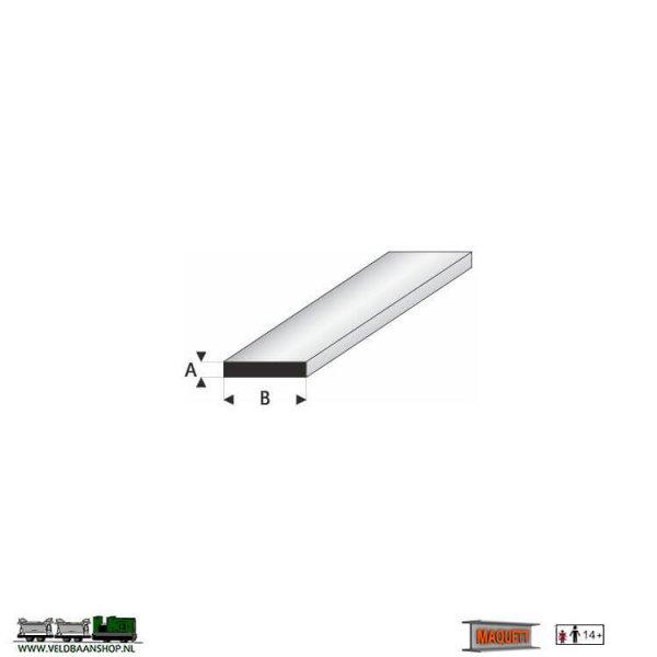 MAQUETT 410-57/3 profiel : platte strip styreen massief