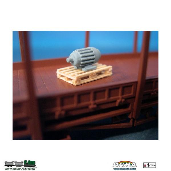 DUHA 11230 Elektromotor auf Palette klein H0