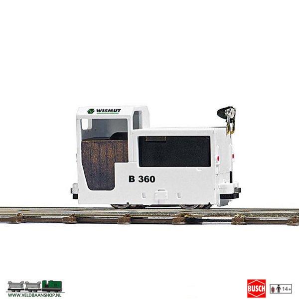 Busch 5015 Mijnbouw Locomotief B 360 Wit H0f